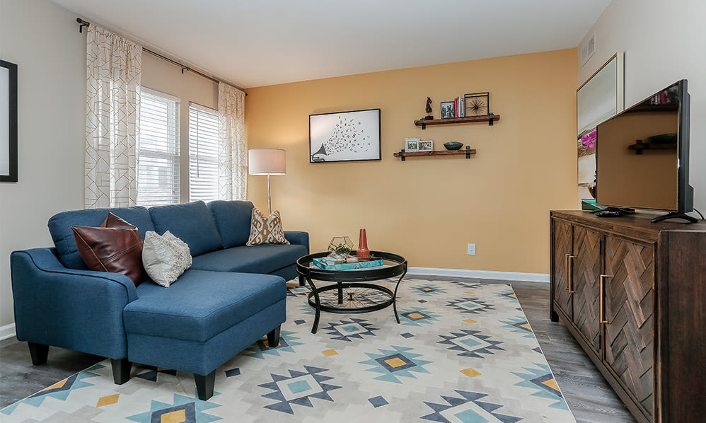 Living Room at Mallards Landing Apartment Homes in Nashville, Tennessee