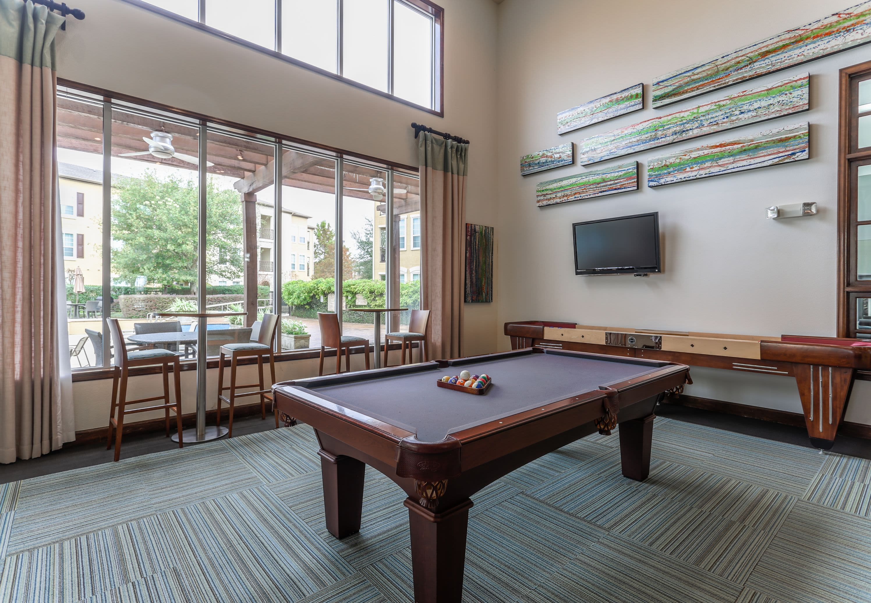 Recreation Room at Amalfi at Tuscan Lakes in League City Texas