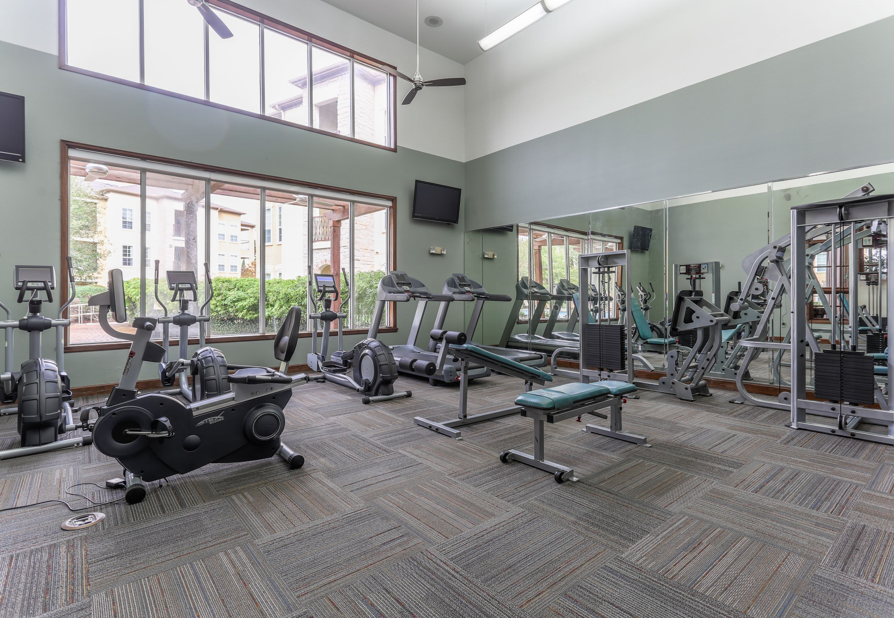 Workout Area at Amalfi at Tuscan Lakes in League City Texas