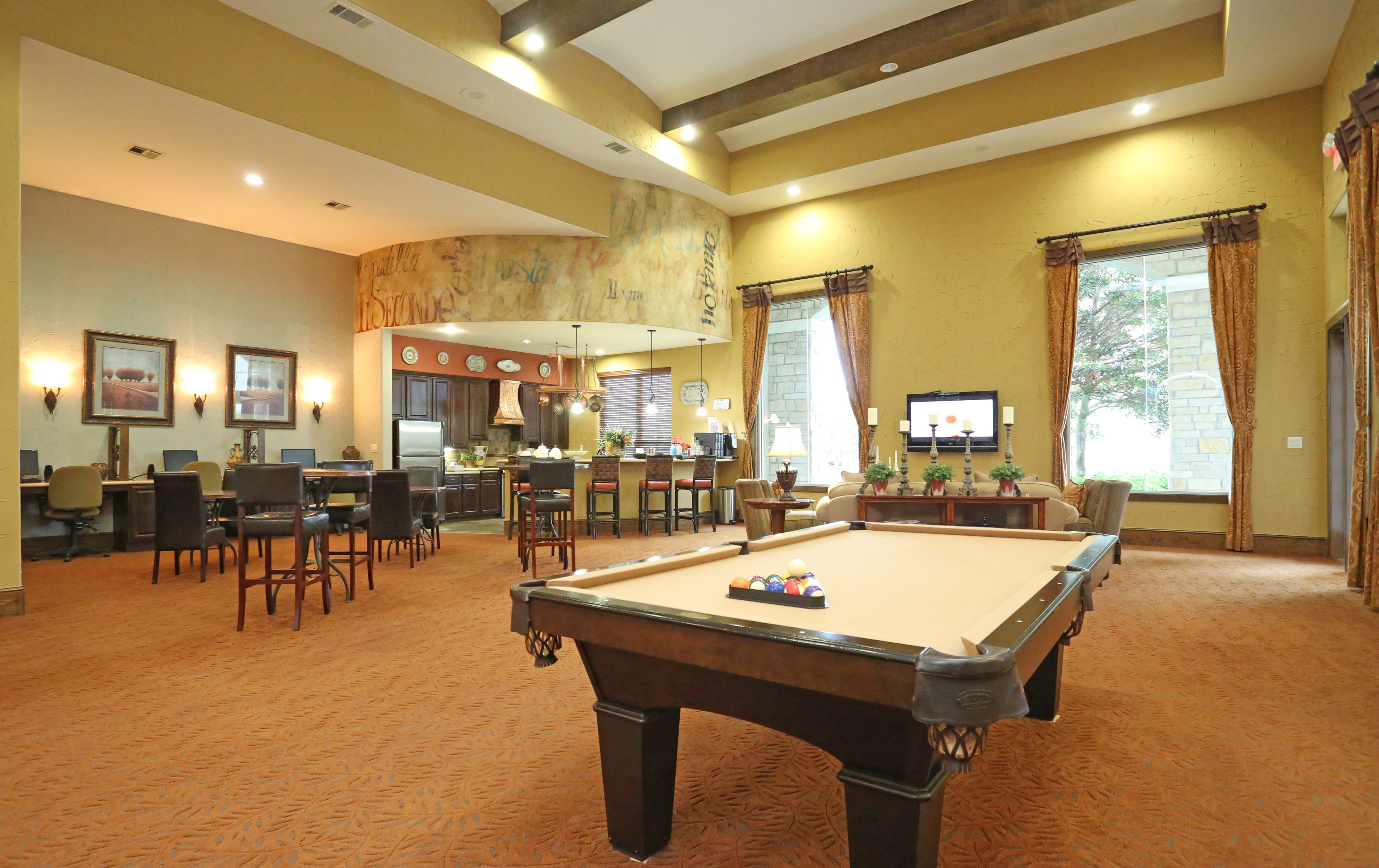 Indoor Recreation Area at Sorrento at Tuscan Lakes in League City Texas