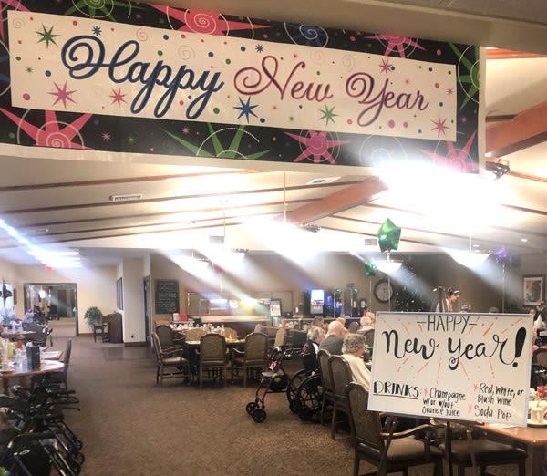 new year's party at Moran Vista