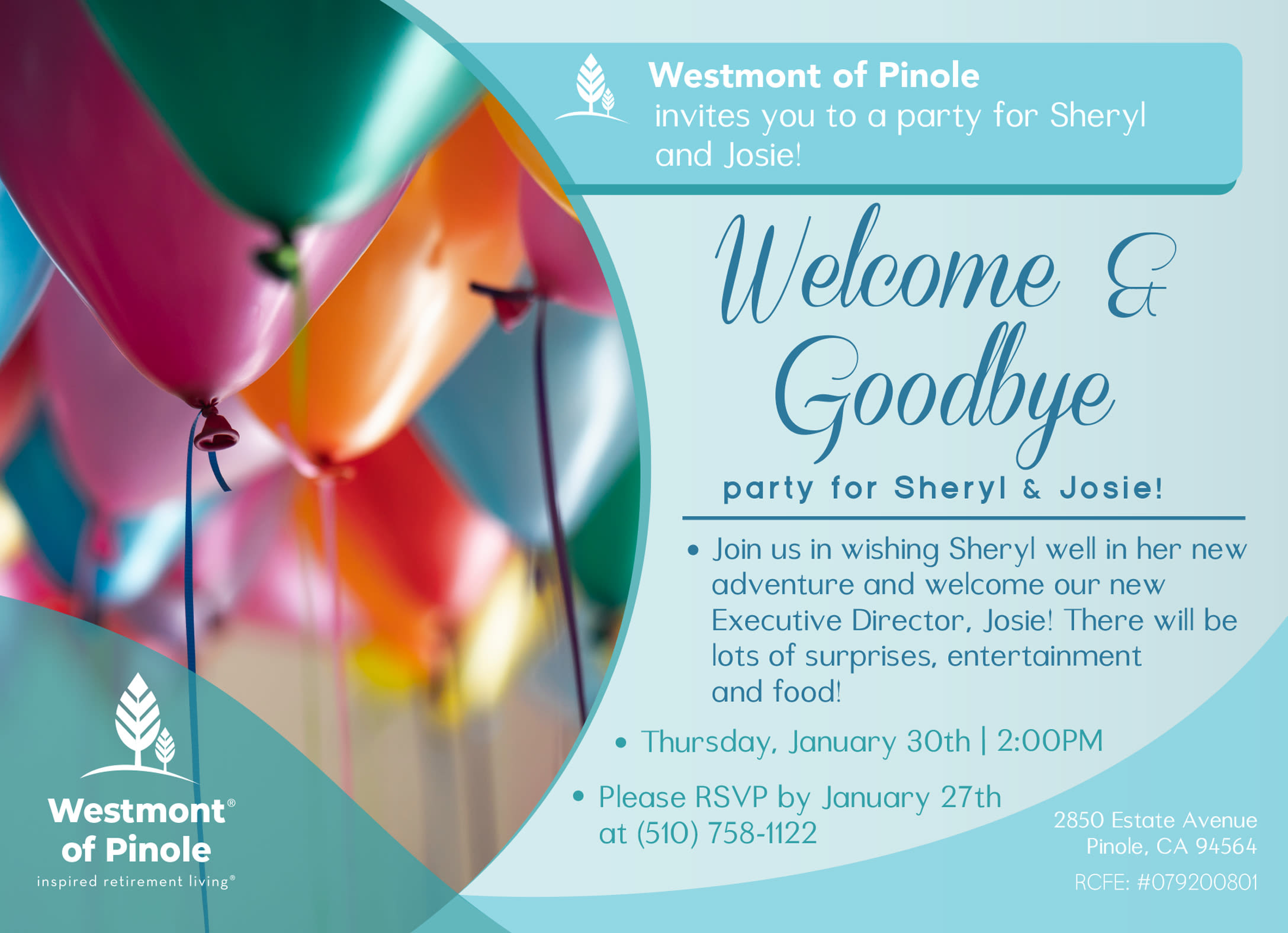 Welcome & Goodbye Party