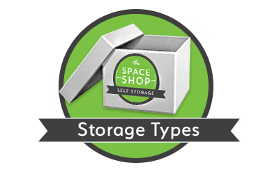 Storage types at Space Shop Self Storage in Cumming, Georgia
