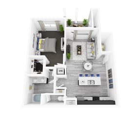 Download All 1 Bedroom Floor Plan images at EVO Apartments in Las Vegas, Nevada