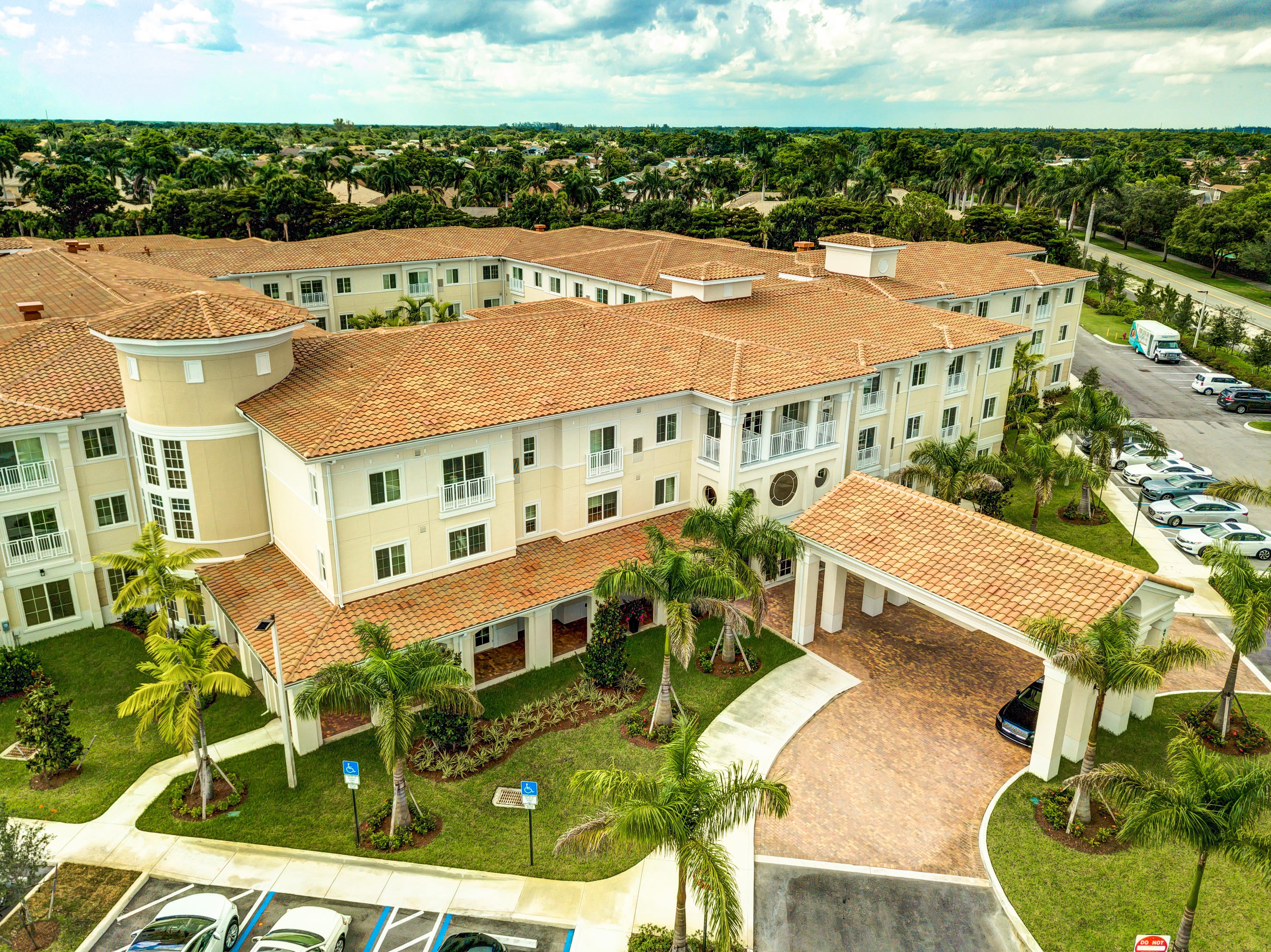 View of the campus surrounding The Meridian at Boca Raton in Boca Raton, Florida