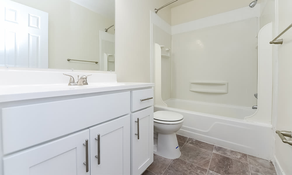 Bathroom at Moorestowne Woods Apartment Homes in Moorestown, New Jersey