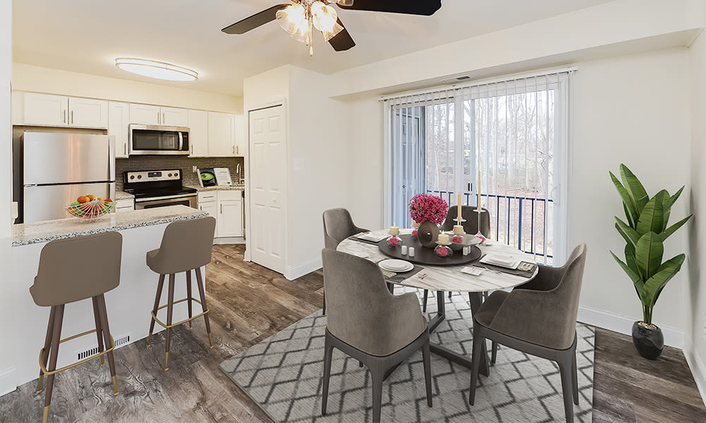 Dining Room at Moorestowne Woods Apartment Homes in Moorestown, New Jersey