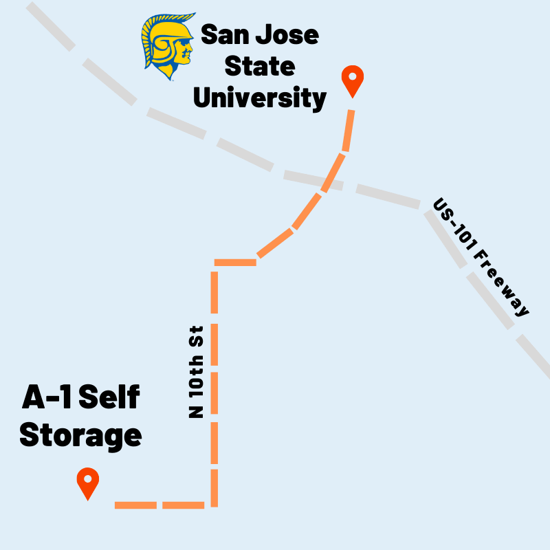 Map of San Jose, CA | A-1 Self Storage