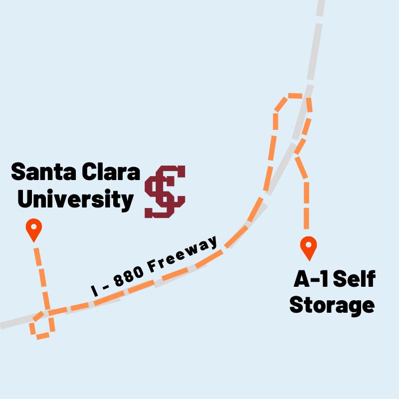 map of Santa Clara U