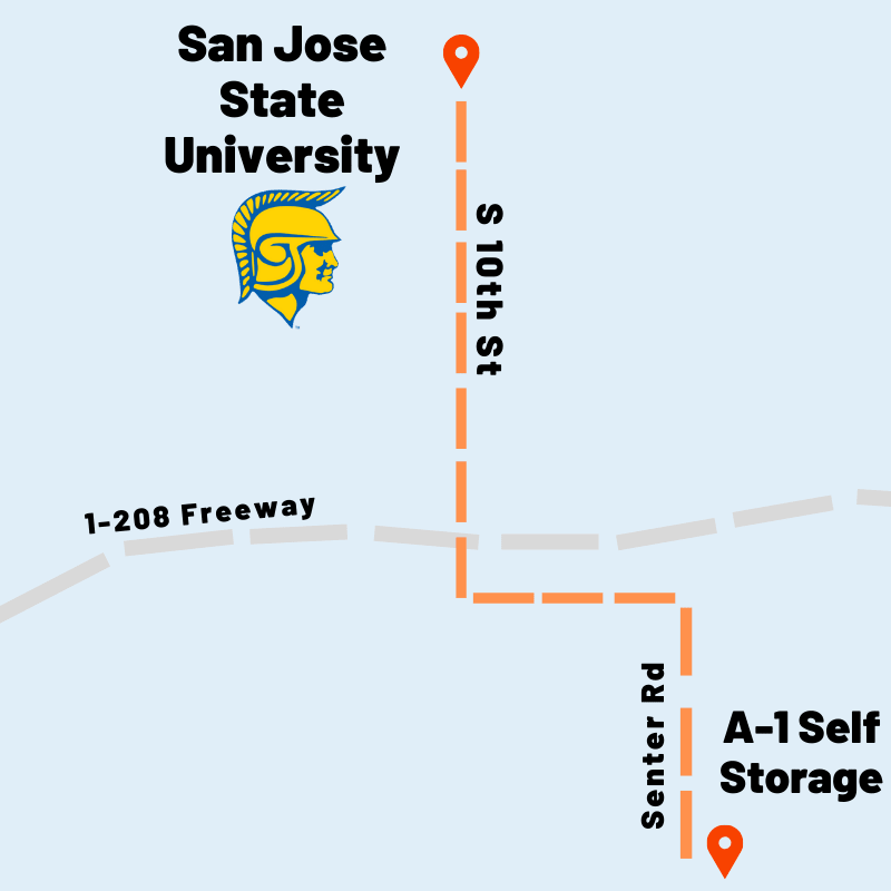 map to San Jose State University