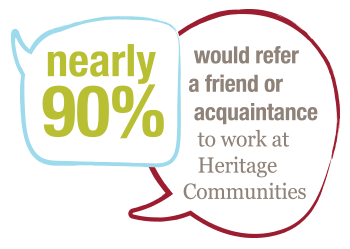 90% referral rating icon at The Heritage at Fountain Point in Norfolk, Nebraska