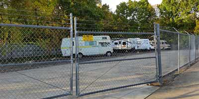 Outdoor RV storage at Mini Storage Depot in Knoxville, Tennessee