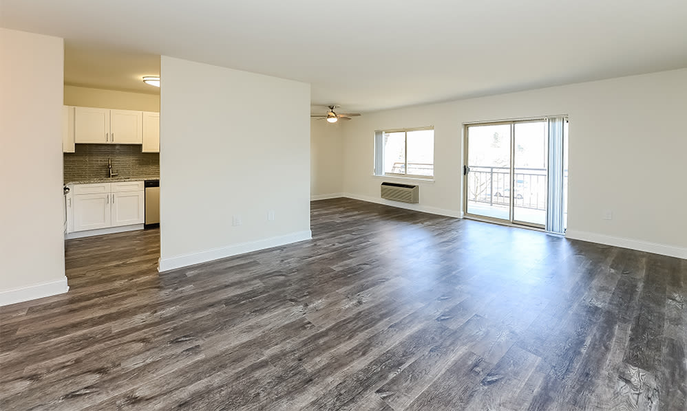 Spacious living room at Timberlake Apartment Homes in East Norriton, Pennsylvania
