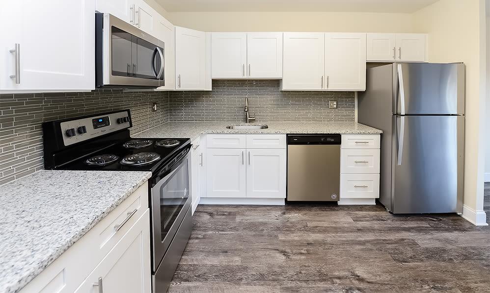 Modern kitchen at Timberlake Apartment Homes in East Norriton, Pennsylvania