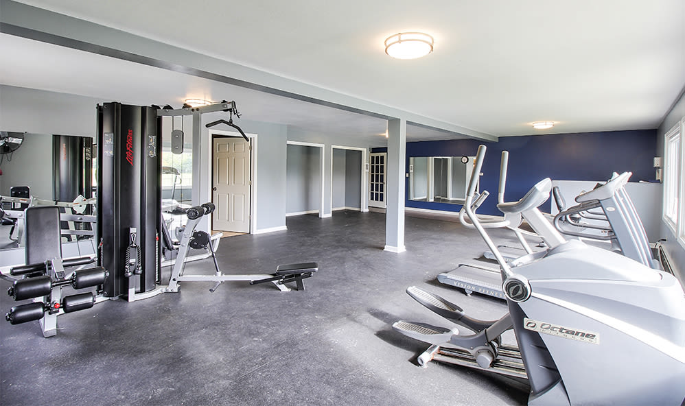 Spacious fitness center at High Acres Apartments & Townhomes in Syracuse, New York