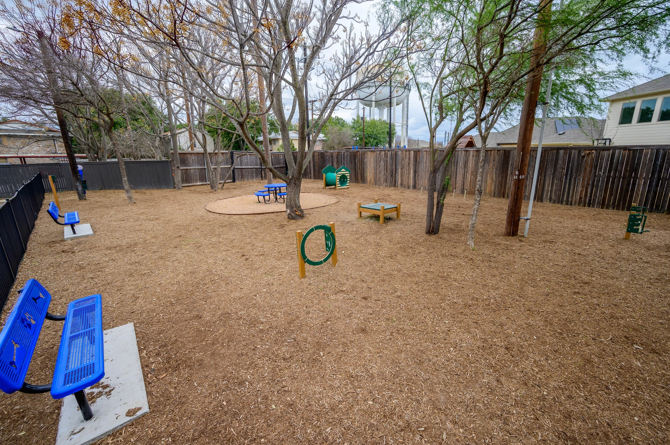 Dog park at Alon at Castle Hills in San Antonio, Texas