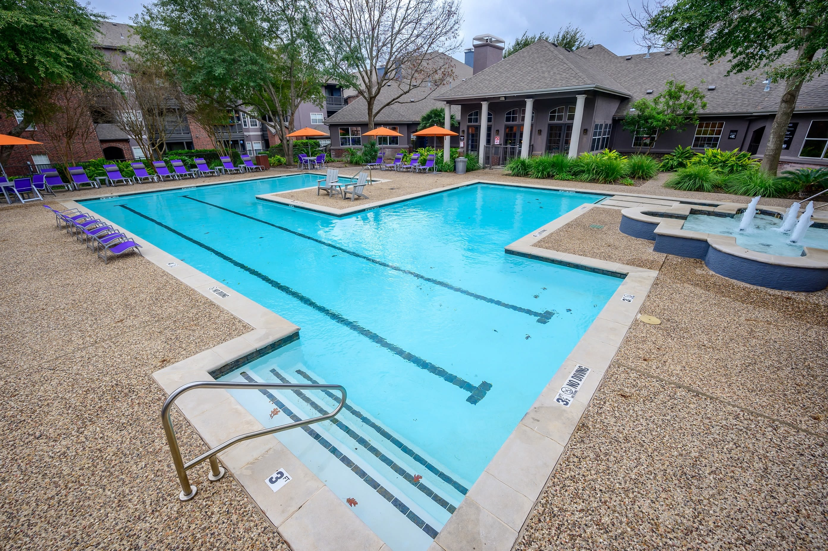 Large outdoor lap pool at Alon at Castle Hills in San Antonio, Texas