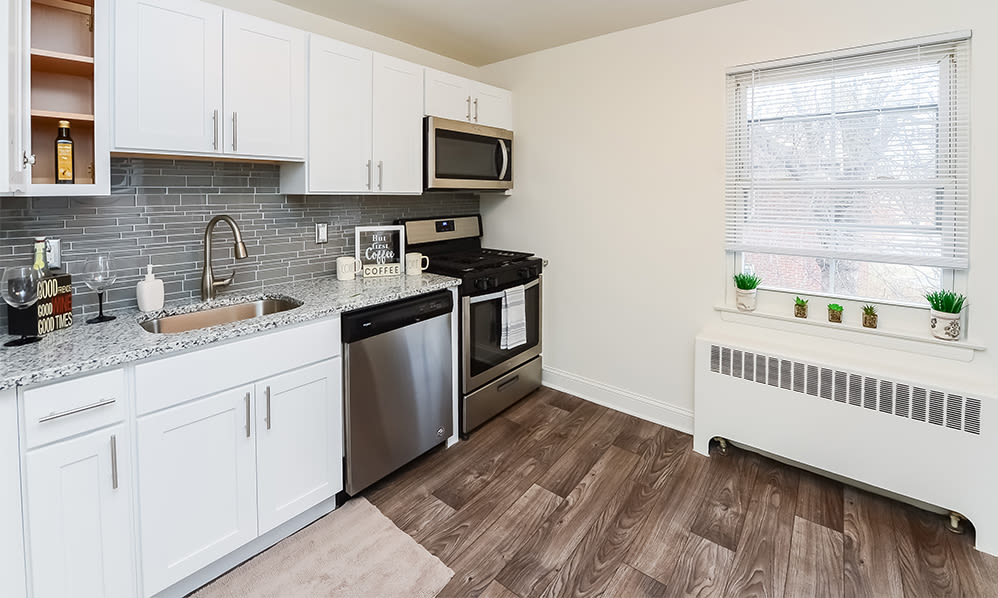 Spacious kitchen at General Greene Village Apartment Homes in Springfield, NJ