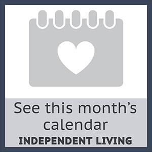 Check out this months independent living calendar at Cherry Park Plaza in Troutdale, Oregon