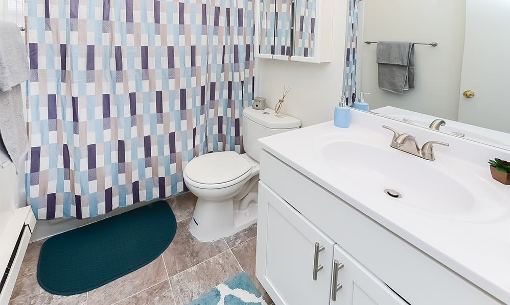 Spacious bathroom at Eatoncrest Apartment Homes in Eatontown, New Jersey