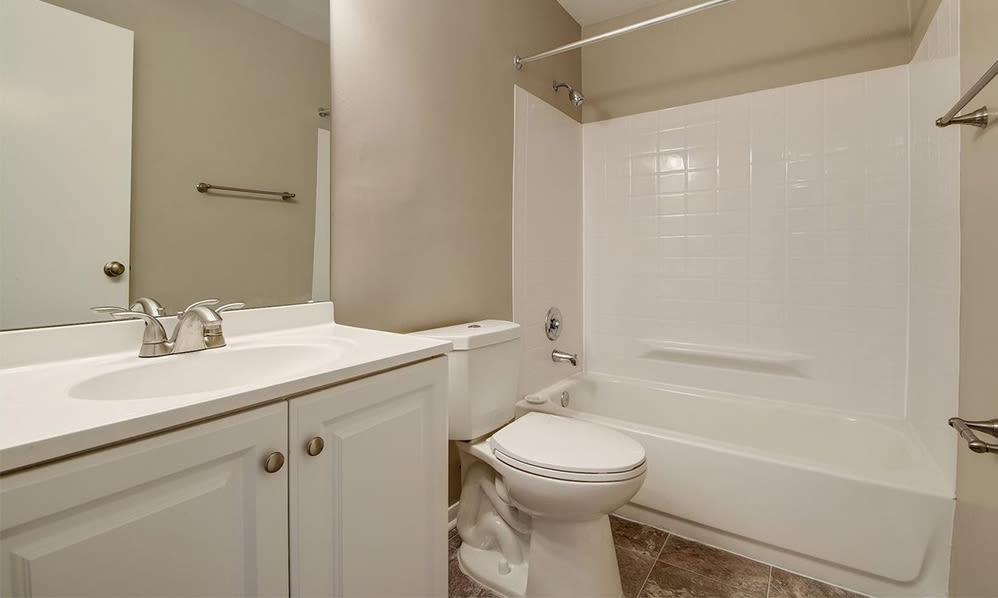 Spacious bathroom at Ross Ridge Apartment Homes in Baltimore, MD