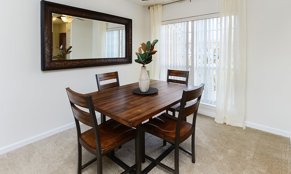 Dining room at Sherry Lake Apartment Homes in Conshohocken, Pennsylvania