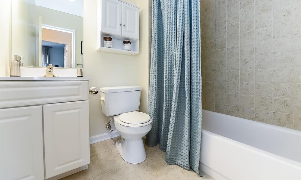 Bathroom at Sherry Lake Apartment Homes in Conshohocken, Pennsylvania