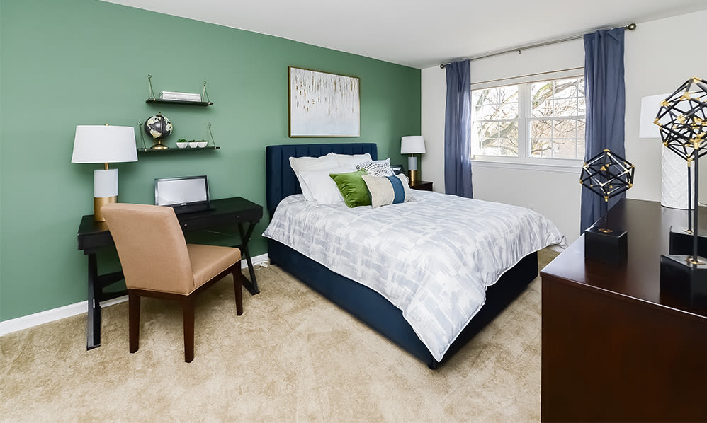 Spacious bedroom at Sherry Lake Apartment Homes in Conshohocken, Pennsylvania