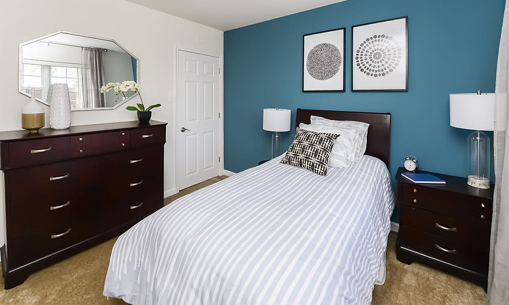Bedroom at Sherry Lake Apartment Homes in Conshohocken, Pennsylvania