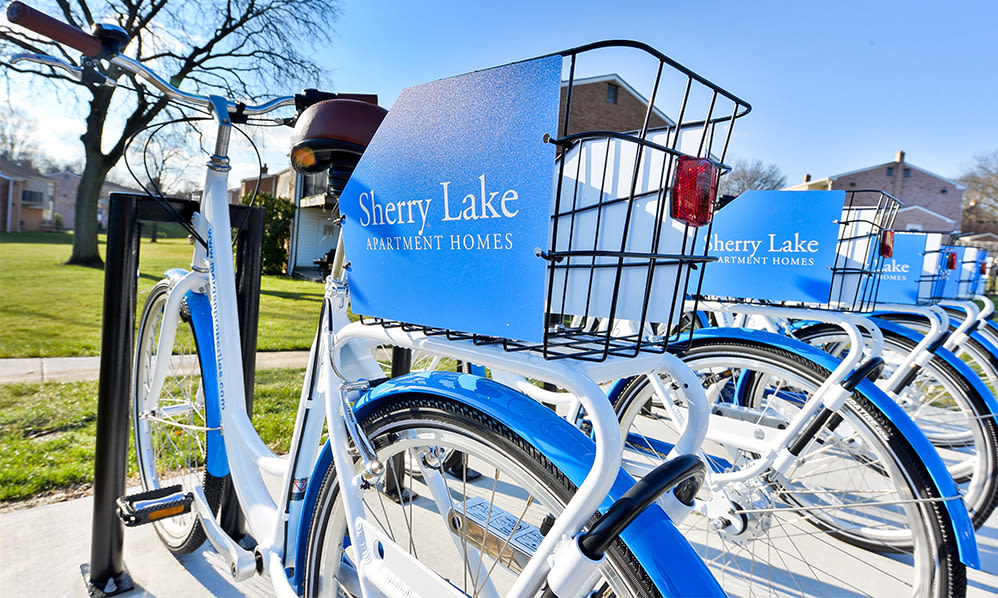 Bike sharing at Sherry Lake Apartment Homes in Conshohocken, Pennsylvania