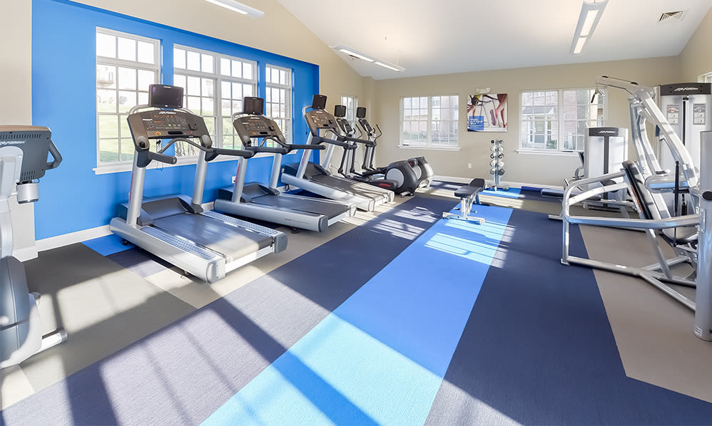 Fully-equipped fitness center at Sherry Lake Apartment Homes in Conshohocken, Pennsylvania
