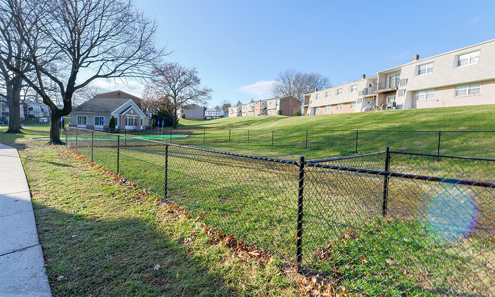 Dog park at Sherry Lake Apartment Homes in Conshohocken, Pennsylvania