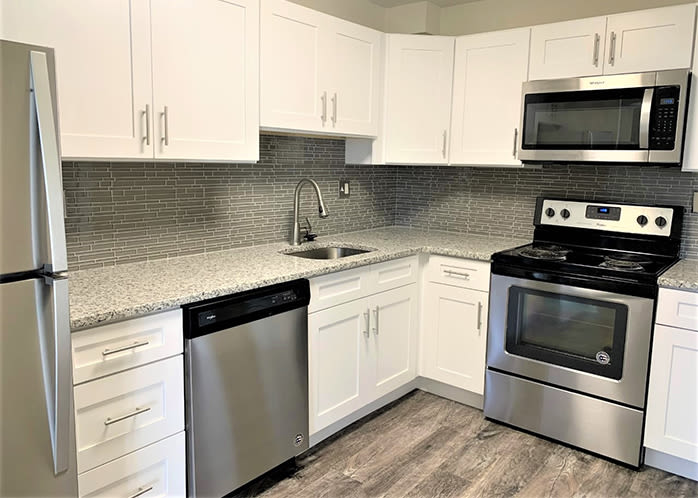 Place One Apartment Homes offers a beautiful kitchen in Plymouth Meeting, PA