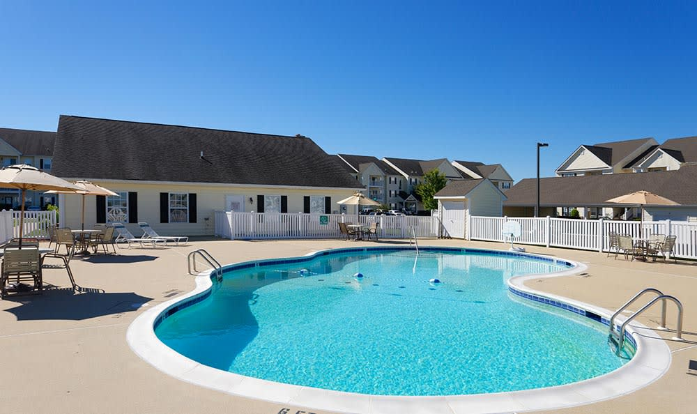 Sparkling pool at Cannon Mills in Dover, Delaware