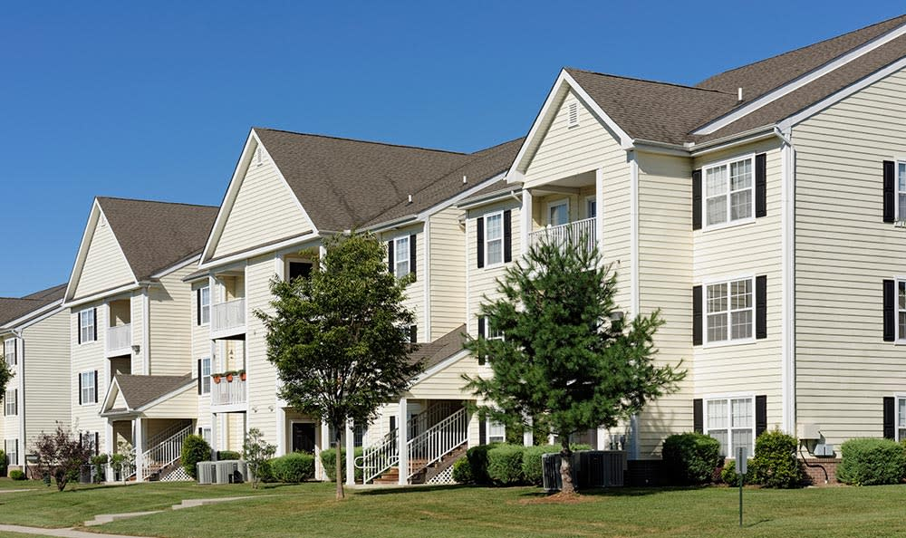 Exterior of apartments at Cannon Mills in Dover, Delaware