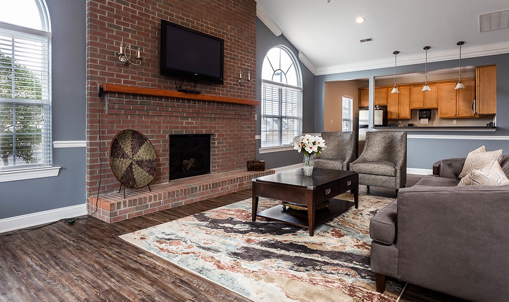 Clubhouse seating area at Cannon Mills in Dover, Delaware