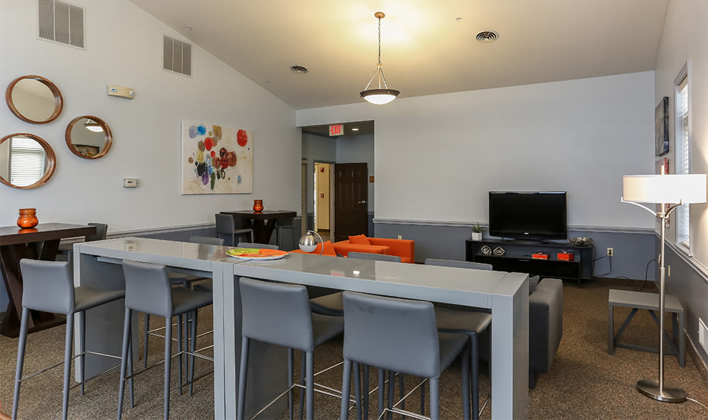 Clubhouse at CenterPointe Apartments and Townhomes in Canandaigua, New York