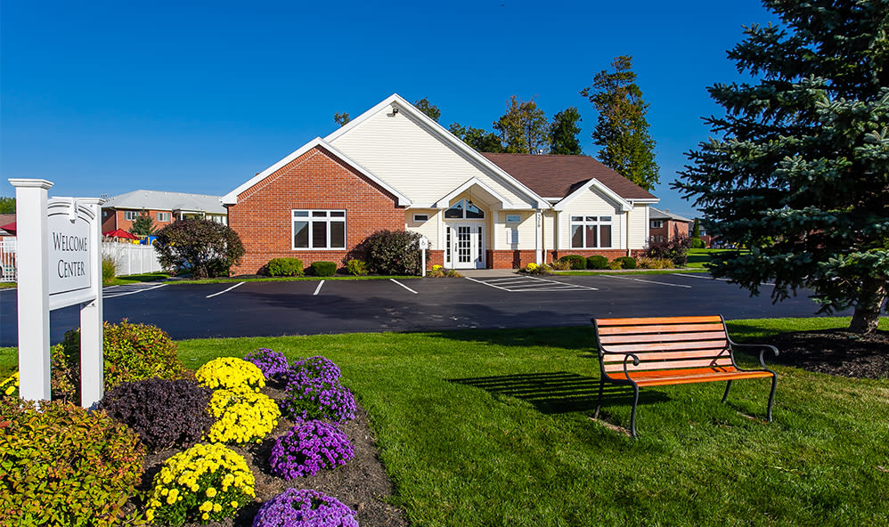 Bench at CenterPointe Apartments and Townhomes in Canandaigua, New York
