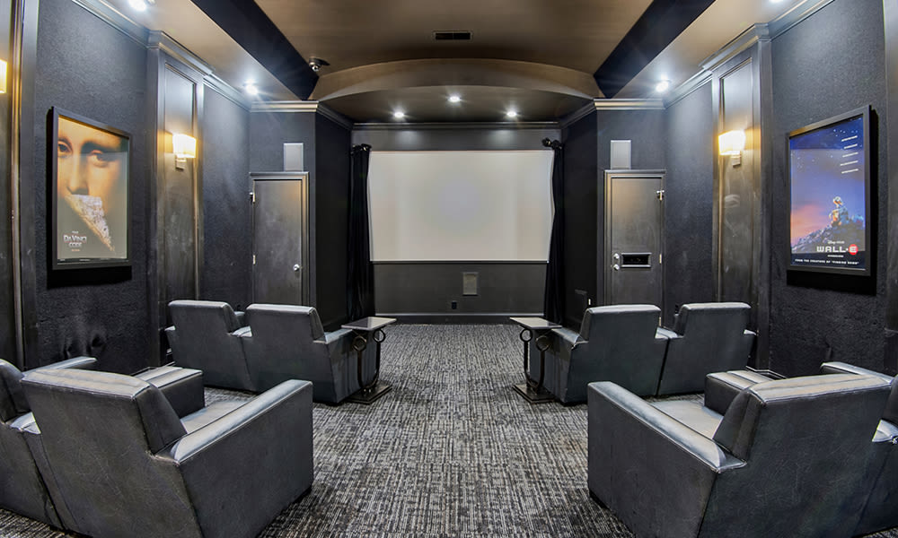 Onsite theater at Chelsea Place in Toledo, Ohio