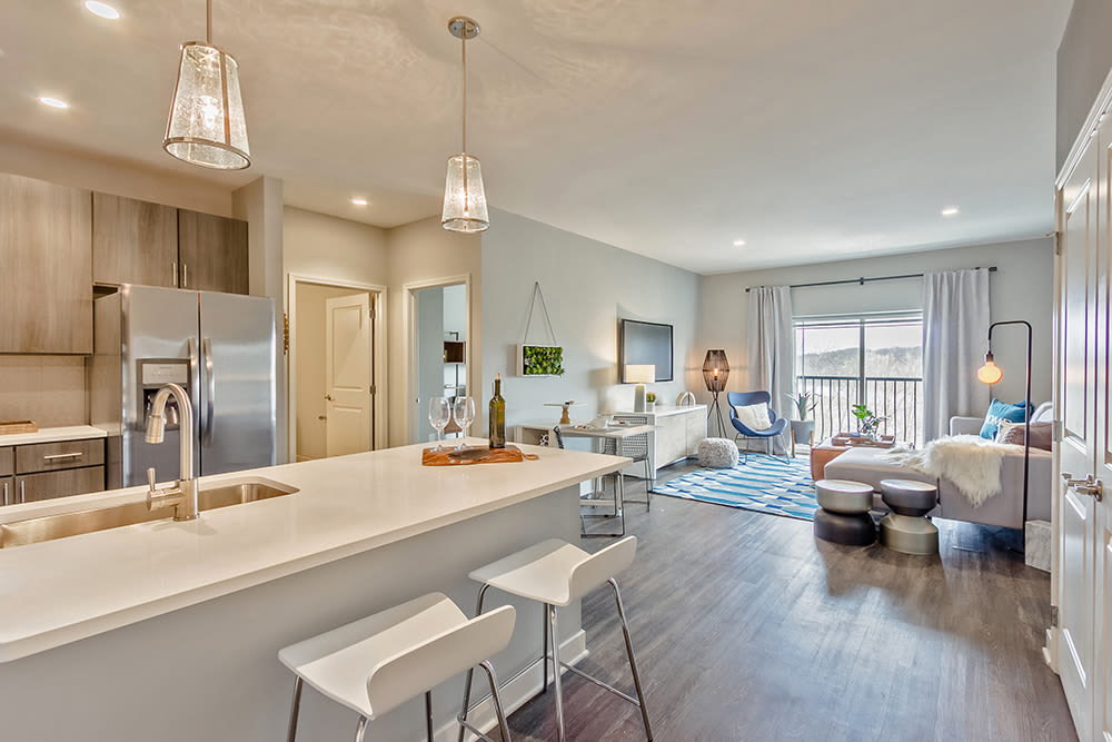 Luxury living room at Ellison Heights Apartments in Rochester, New York