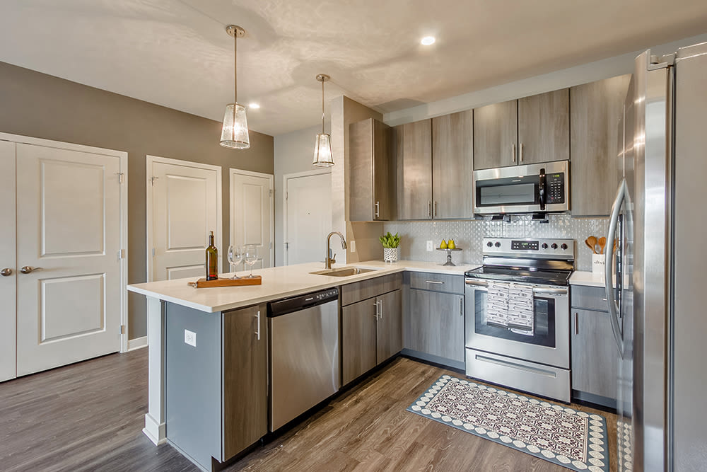 Bright Kitchen at Ellison Heights Apartments in Rochester, New York
