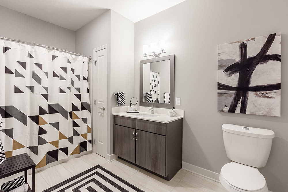 Spacious Bathroom at Ellison Heights Apartments in Rochester, New York