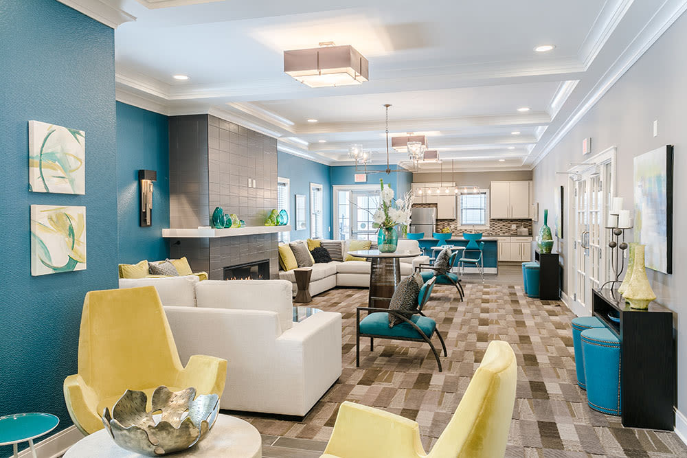 Bright clubhouse at Ellison Heights Apartments in Rochester, New York