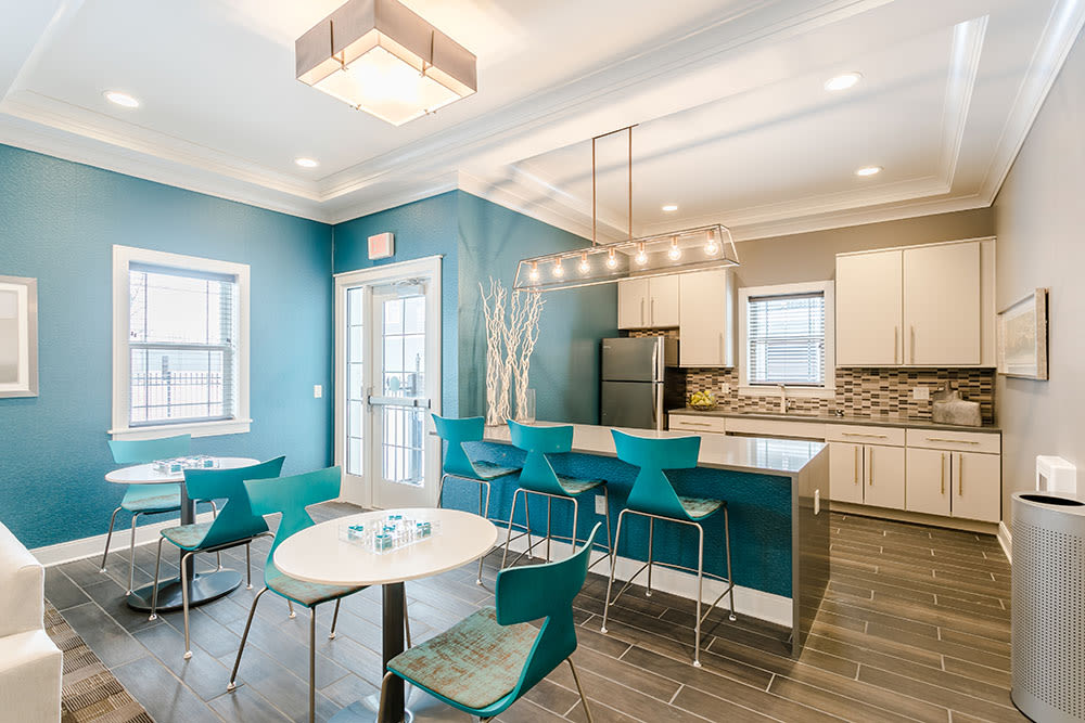 Stylish clubhouse at Ellison Heights Apartments in Rochester, New York