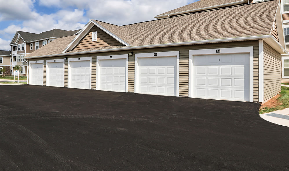 Apartments with a garage at Fairview at Town Center Apartment Homes in Rochester, New York