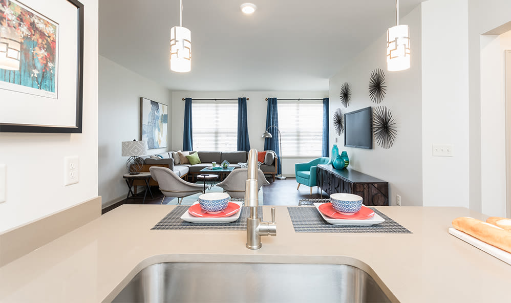 Entertain friends and family at Fairview at Town Center Apartment Homes in Rochester, New York