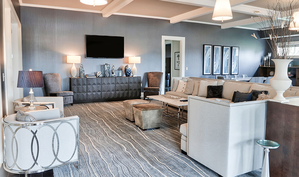 Modern clubhouse at Fairview at Town Center Apartment Homes in Rochester, New York