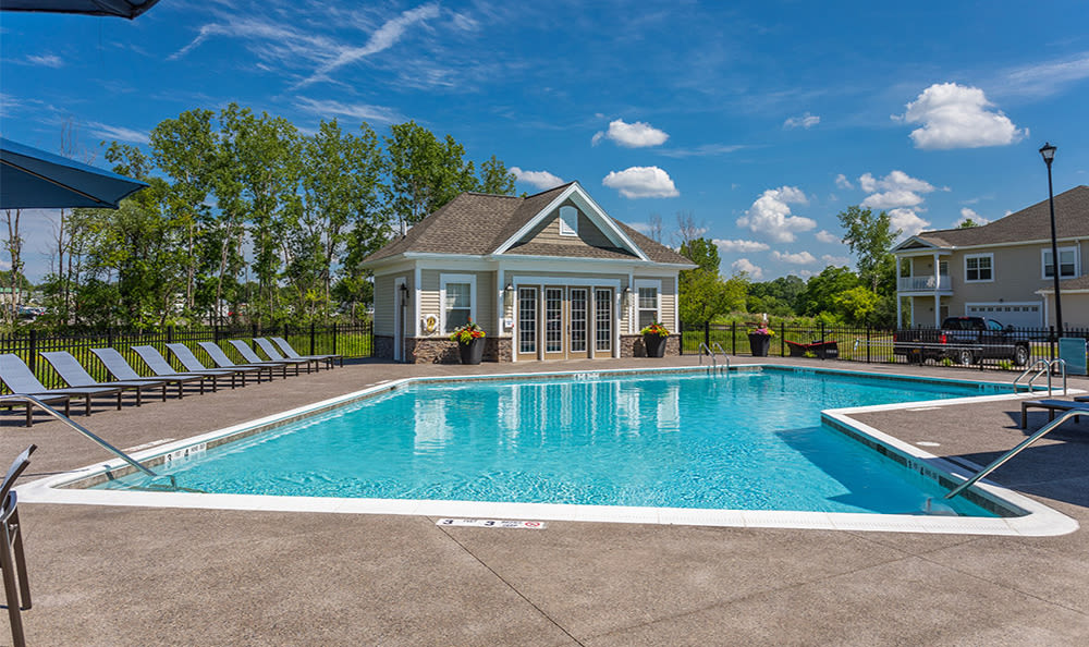 Relaxing pool at Fairview at Town Center Apartment Homes in Rochester, New York