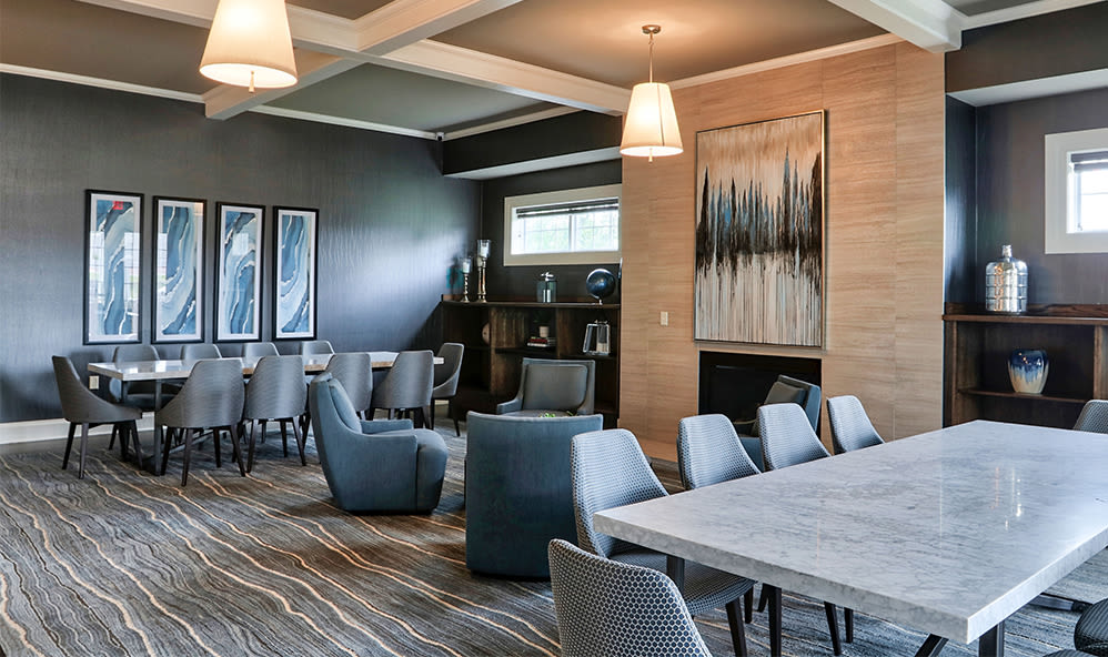 Enjoy apartments with a clubhouse that is great for entertaining at Fairview at Town Center Apartment Homes in Rochester, New York