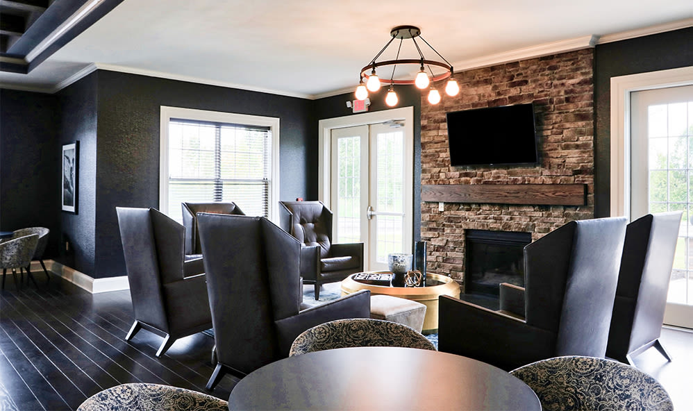 Spacious clubhouse at Fairview at Town Center Apartment Homes in Rochester, New York